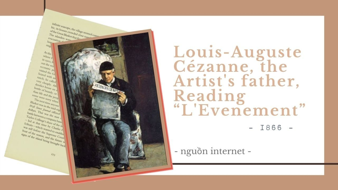 "Louis-Auguste Cézanne, the Artist's father, Reading ""L'Evenement"""
