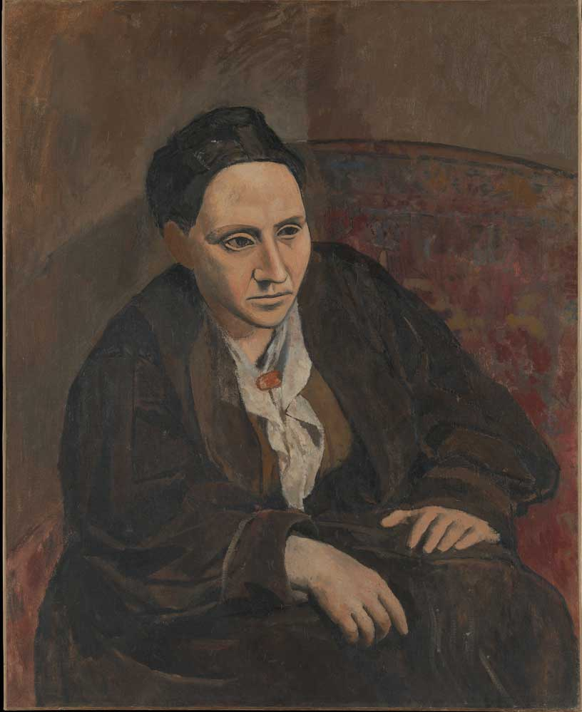 Portrait-of-Gertrude-Stein-(1905) DANH HỌA PABLO PICASSO VÀ CÁC TÁC PHẨM TIÊU BIỂU Portrait of Gertrude Stein 1905
