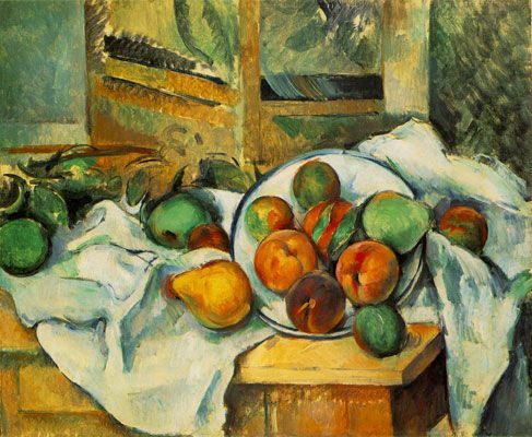 Table, Napkin, and Fruit (A Corner of the Table) (1895-1900)  DANH HỌA PAUL CÉZANNE VÀ HẬU ẤN TƯỢNG Table Napkin and Fruit A Corner of the Table 1895 1900