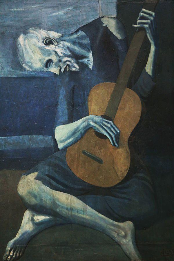The Old Guitarist (1903)  DANH HỌA PABLO PICASSO VÀ CÁC TÁC PHẨM TIÊU BIỂU The Old Guitarist 1903