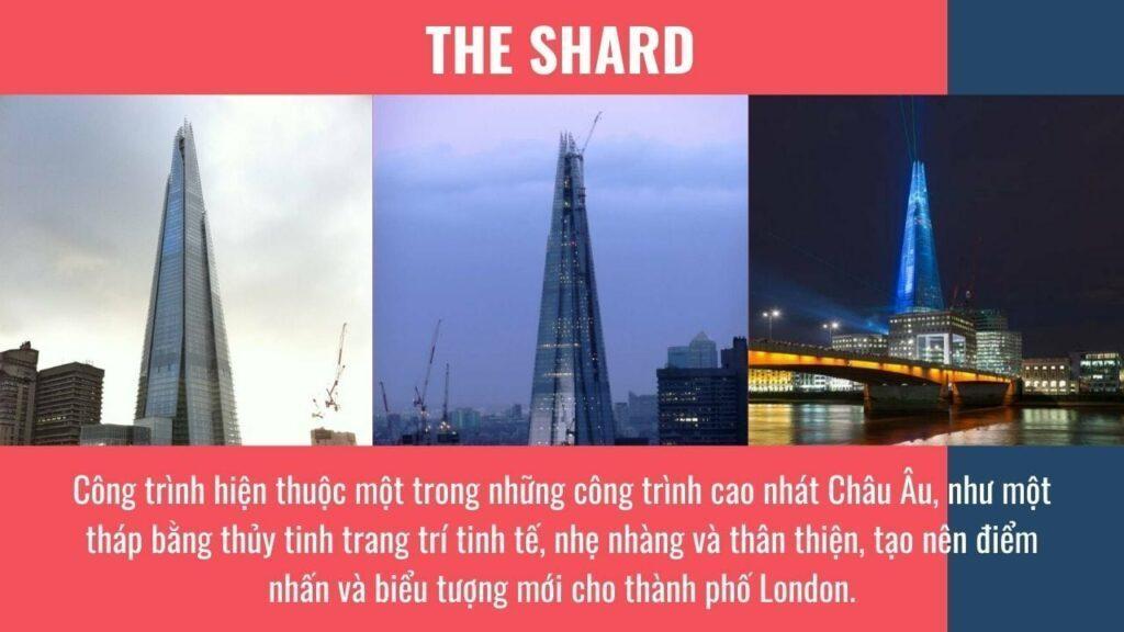 The Shard - Một trong những công trình cao nhất châu Âu