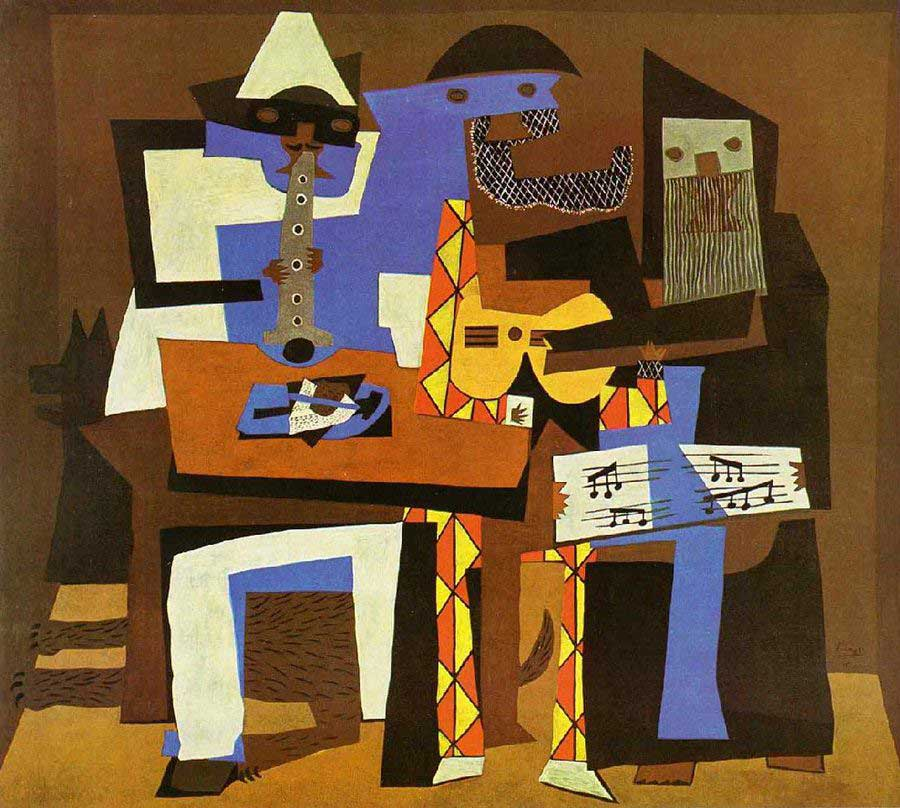The-Three-Musicians-(1921) DANH HỌA PABLO PICASSO VÀ CÁC TÁC PHẨM TIÊU BIỂU The Three Musicians 1921