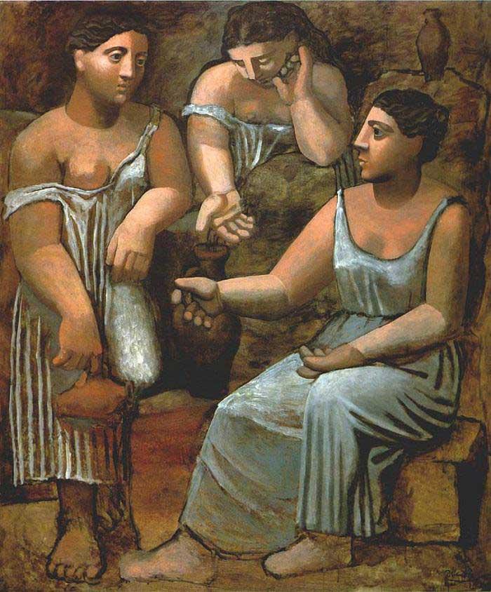 Three-Women-at-the-Spring-(1921) DANH HỌA PABLO PICASSO VÀ CÁC TÁC PHẨM TIÊU BIỂU Three Women at the Spring 1921