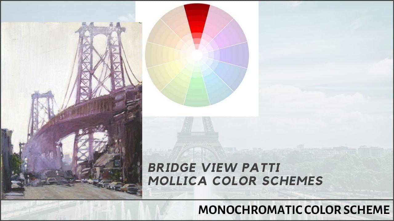 Bridge view patti mollica color schemes_artCách phối màu cơ bản_Hòa sắc đơn sắc_Bridge view patti mollica color schemes_artists networkists network