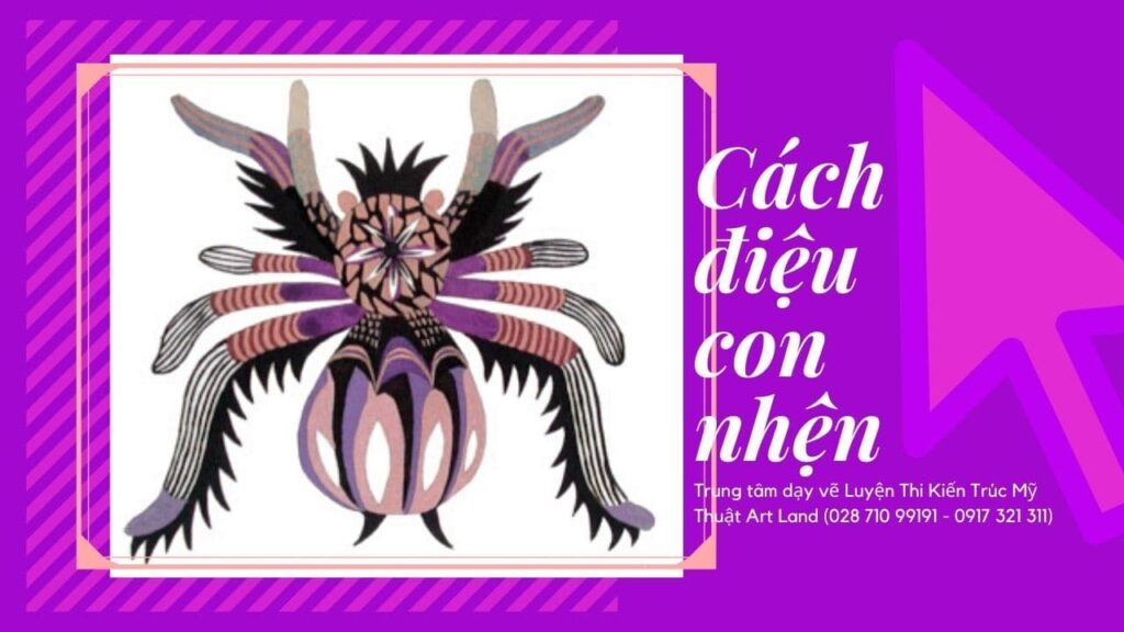 Mẫu cách điệu con nhện