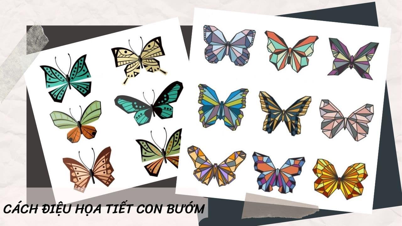 Cách điệu hòa tiết con bướm