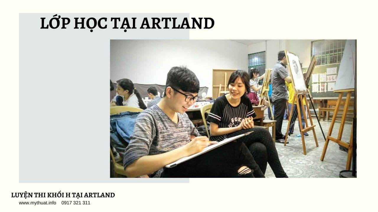 Giảng viên và học viên Trung Tâm Mỹ thuật Artland