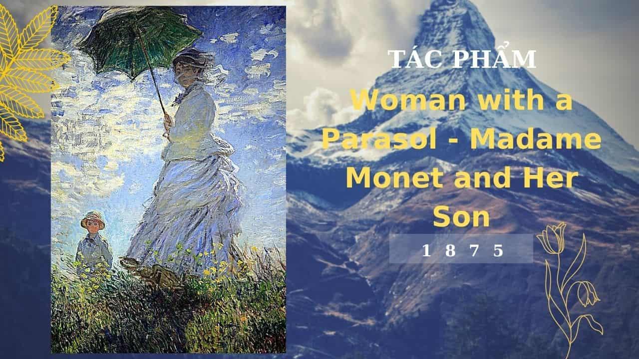 tác phẩm của monet woman with a parasol (nguồn internet)