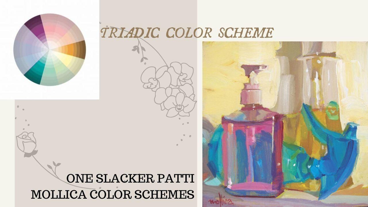 cách phối màu cơ bản_Hòa sắc bổ túc bộ ba_One slacker patti mollica color schemes_Artists network