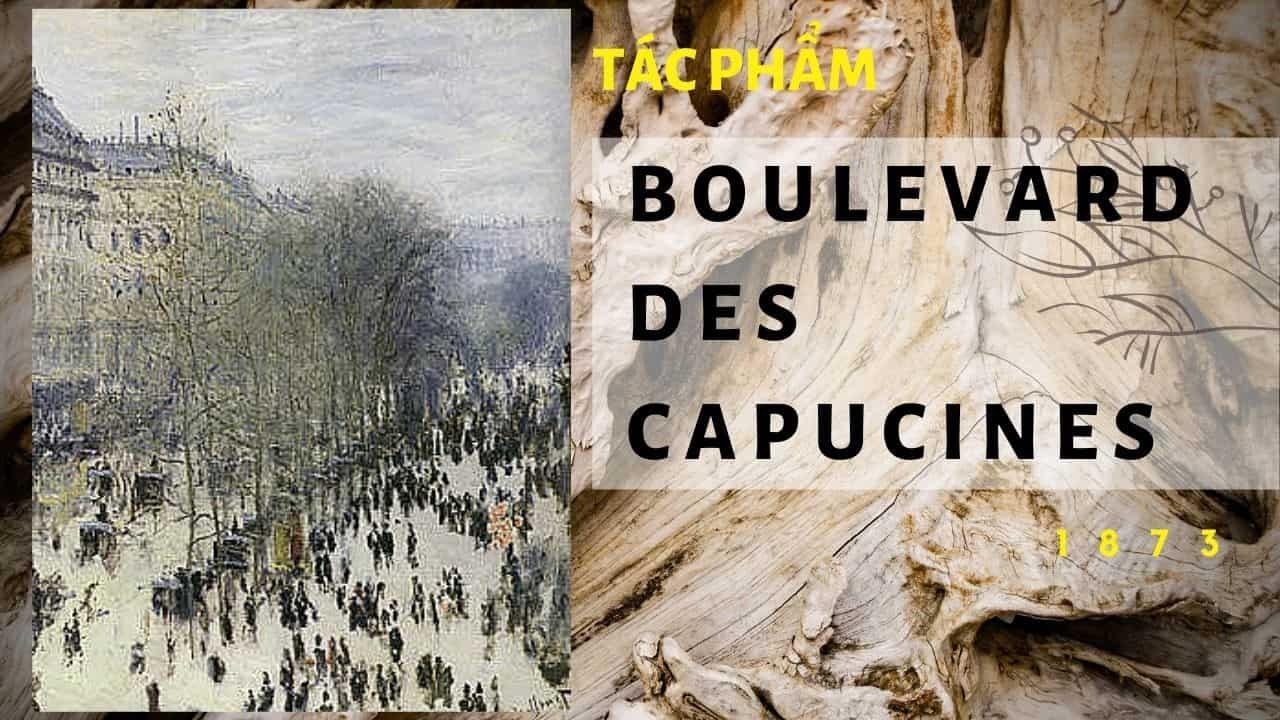 tác phẩm của họa sĩ monet des capucines (nguồn internet)