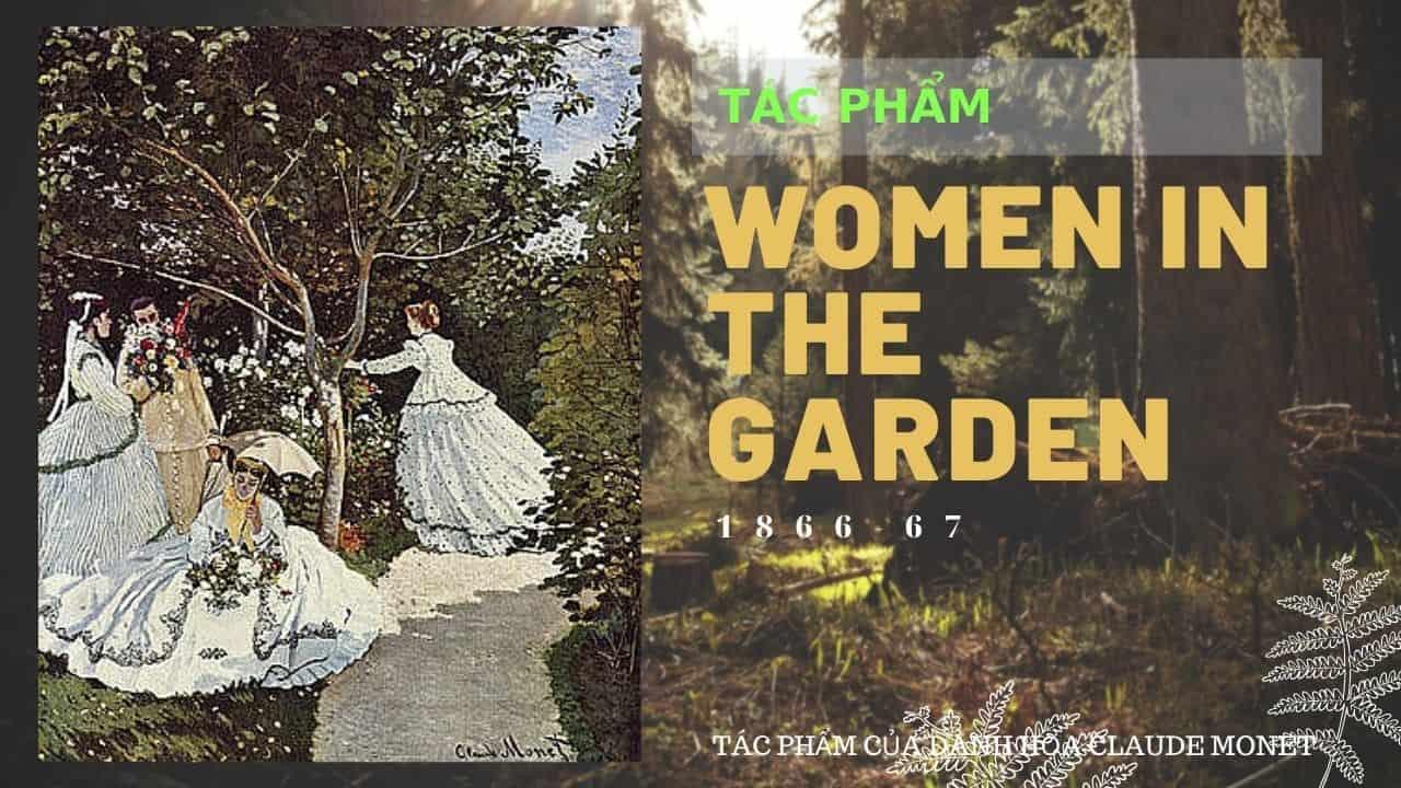 tác phẩm của DANH HỌA CLAUDE MONET women in garden