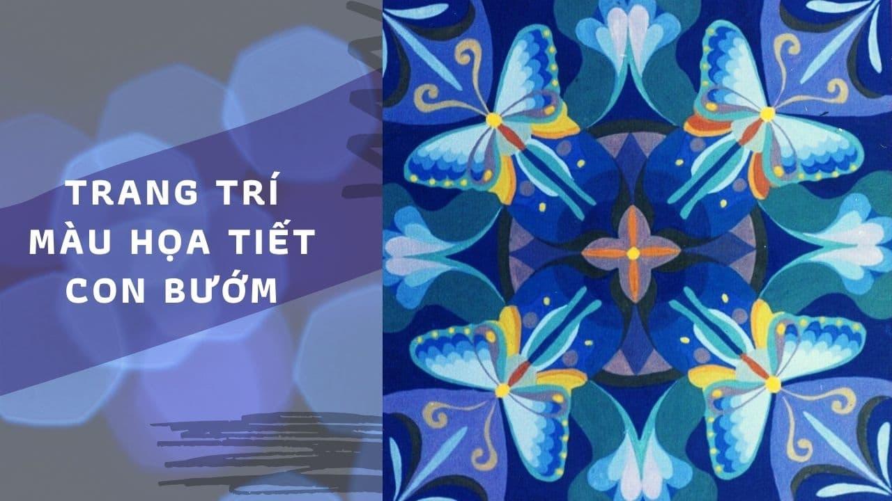 Trang trí màu họa tiết con bướm