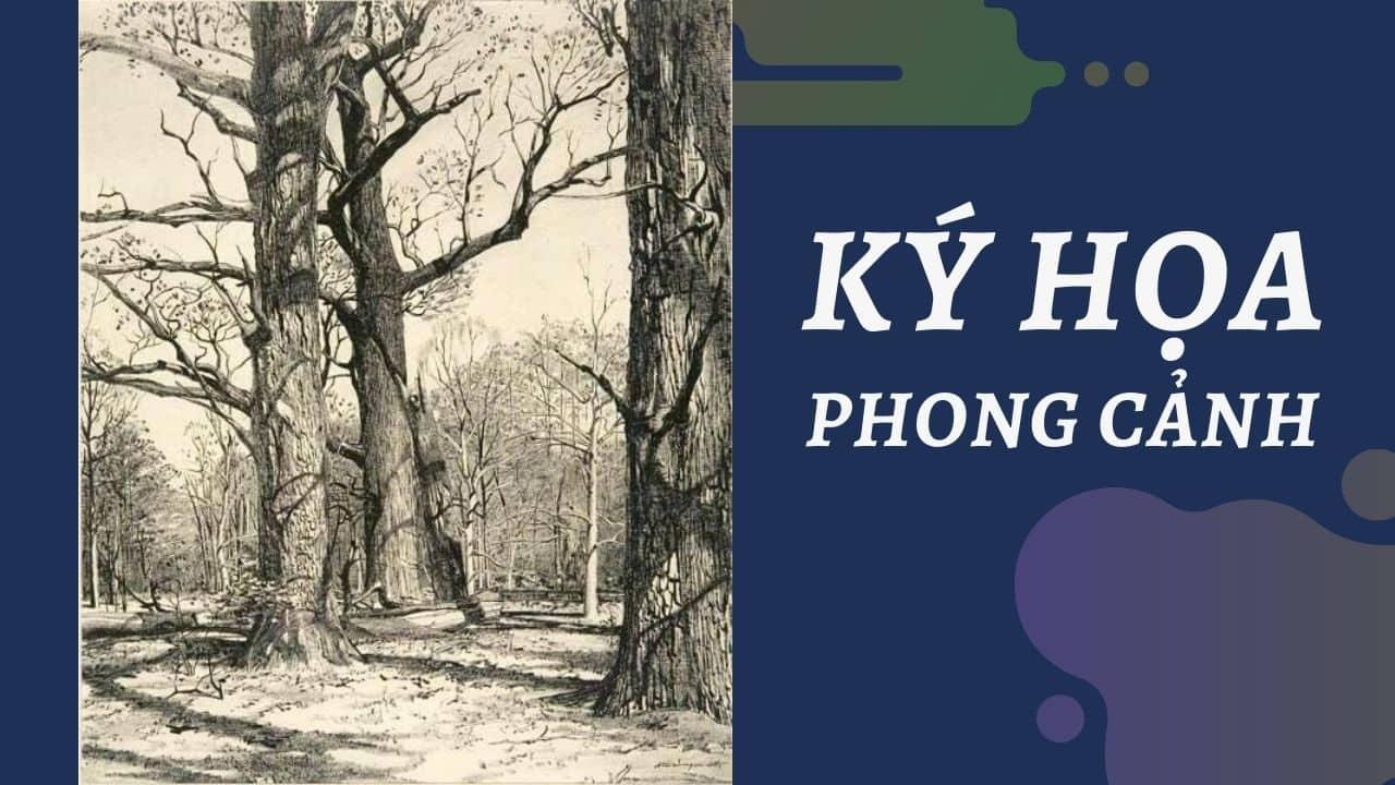 Tranh Ký Họa Phong Cảnh Khu Rừng
