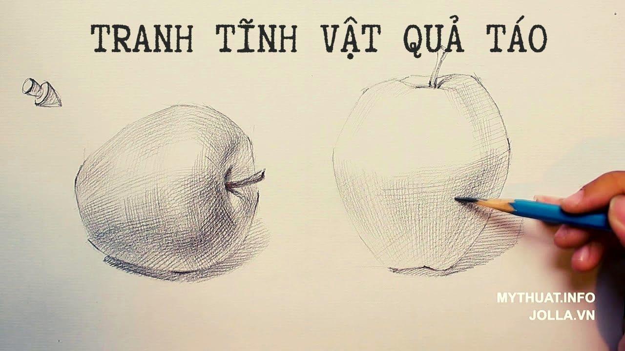 Tranh tĩnh vật quả táo