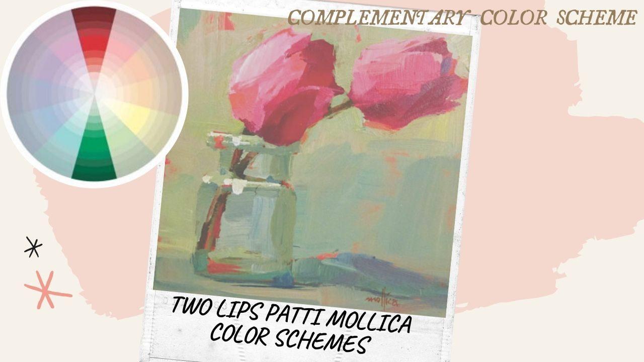 cách phối màu cơ bản_Hòa sắc bổ sung_Two lips patti mollica color schemes_Artists network