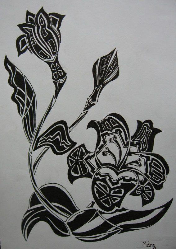 Vẽ cách điệu hoa Ly  CÁCH ĐIỆU HOA LÁ (phần 2) ve cach dieu hoa lily 3
