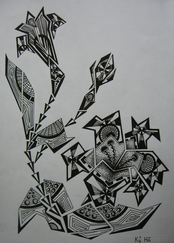 Vẽ cách điệu hoa Ly