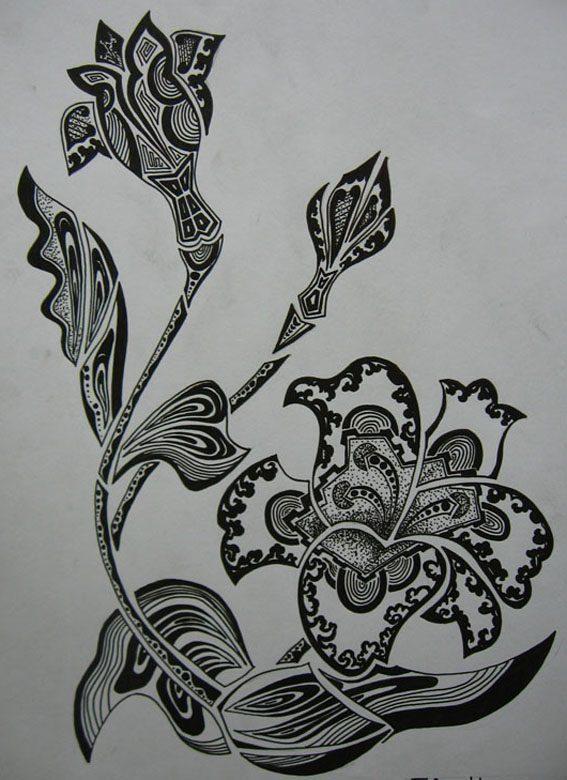 Vẽ cách điệu hoa Ly  CÁCH ĐIỆU HOA LÁ (phần 2) ve cach dieu hoa lily 5