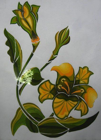 Vẽ cách điệu hoa Ly  CÁCH ĐIỆU HOA LÁ (phần 2) ve cach dieu hoa lily