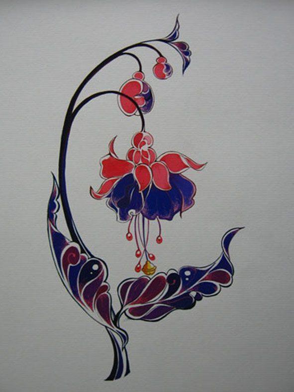 Vẽ cách điệu hoa lồng đèn