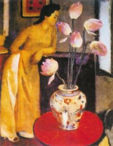 tranh thiếu nữ bên hoa huệ  Tô Ngọc Vân và những điều thú vị về bức tranh thiếu nữ bên hoa huệ 4 4 233x300