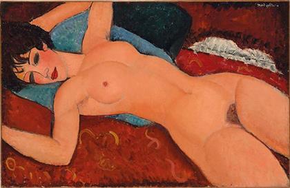 Amedeo Modigliani Nu couché (Reclining Nude)  10 BỨC HỌA ĐẮT NHẤT THẾ GIỚI Amedeo Modigliani Nu couch   Reclining Nude