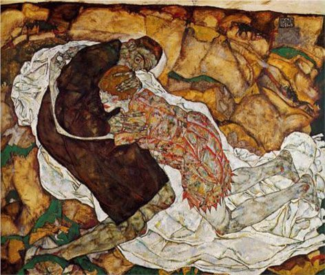 Death and the Maiden (1914–15)  HỌA SĨ EGON SCHIELE VÀ SỰ SÁNG TẠO TÁO BẠO Death and the Maiden 1914   15