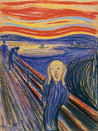 Edvard Munch The Scream  10 BỨC TRANH NỔI TIẾNG NHẤT THẾ GIỚI Edvard Munch The Scream