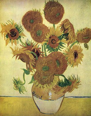 Fourteen Sunflowers in a Vase (1888)