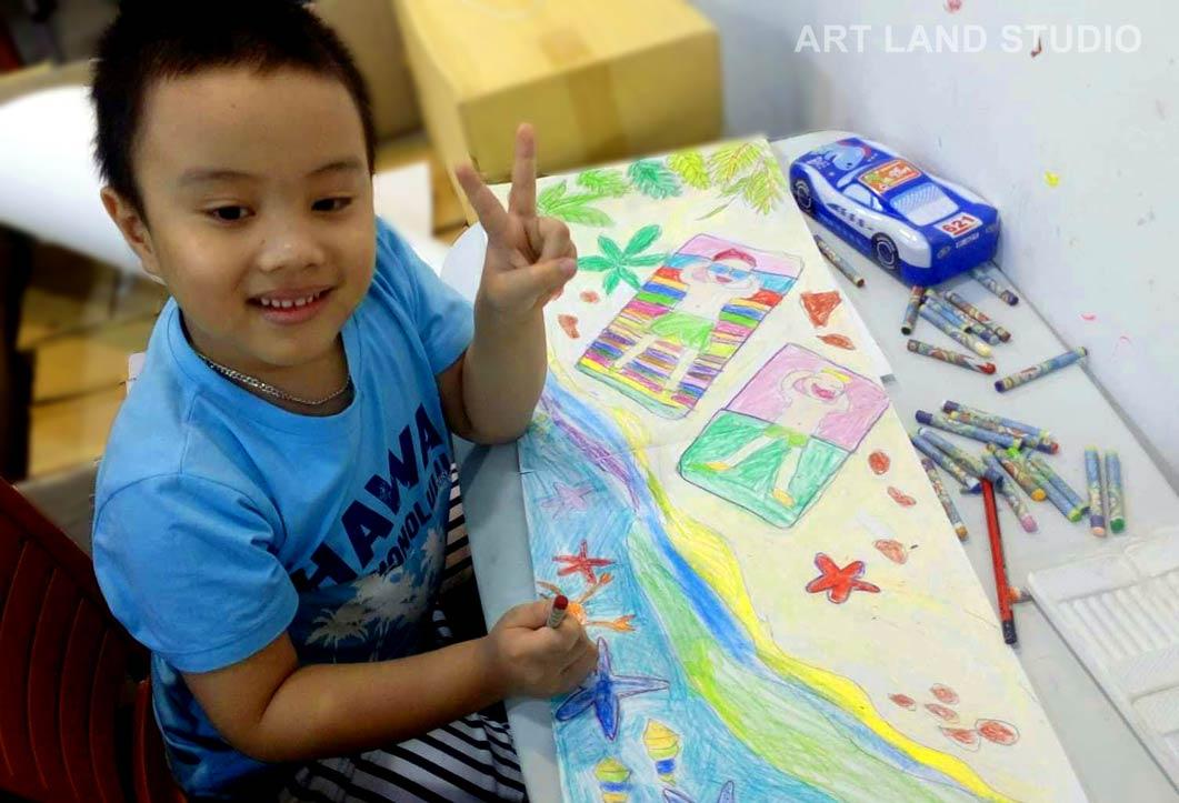 Lớp học vẽ cho bé 3 tuổi