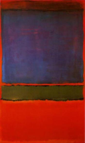 Mark Rothko No. 6 (Violet, Green and Red), 1951  10 BỨC HỌA ĐẮT NHẤT THẾ GIỚI Mark Rothko No