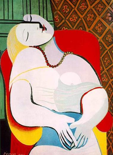 Pablo Picasso La Rêve (The Dream), 1932  10 BỨC HỌA ĐẮT NHẤT THẾ GIỚI Pablo Picasso La R  ve The Dream 1932