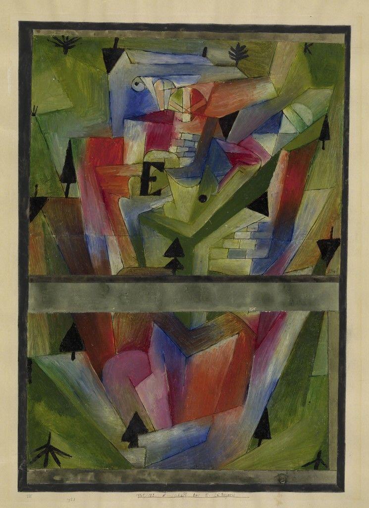 Paysage près de E. (en Bavière), 1921 Paul Klee- L'ironie à l'oeuvre at Centre Pompidou, Paris LÀM SAO ĐỂ TRỞ THÀNH HỌA SĨ, THEO PHƯƠNG PHÁP PAUL KLEE Paysage pr s de E
