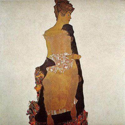 Portrait of Gerti Schiele (1909)  HỌA SĨ EGON SCHIELE VÀ SỰ SÁNG TẠO TÁO BẠO Portrait of Gerti Schiele 1909