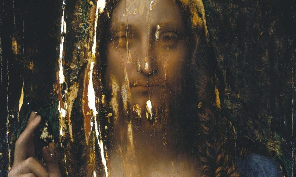 Salvator Mundi Photograph- Courtesy Dianne Modestini : © 2011 Salvator Mundi LLC