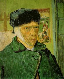 Self-Portrait with Bandaged Ear (1889)