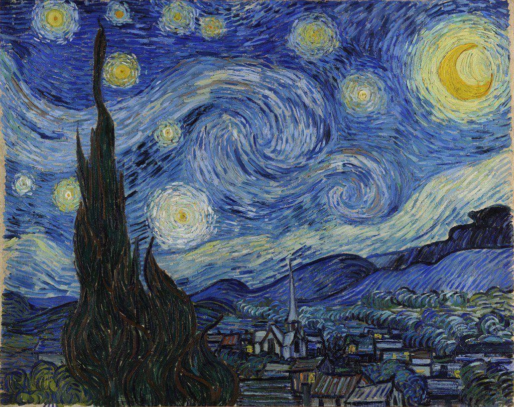 Starry_Night  10 BỨC TRANH NỔI TIẾNG NHẤT THẾ GIỚI Starry Night 1024x811