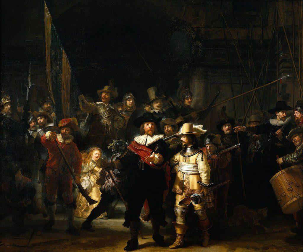 The_Nightwatch_by_Rembrandt  10 BỨC TRANH NỔI TIẾNG NHẤT THẾ GIỚI The Nightwatch by Rembrandt 1024x853
