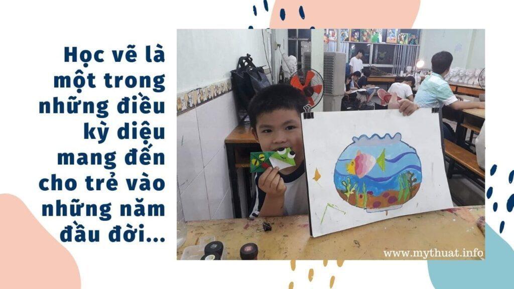 lớp dạy học vẽ cho trẻ em quận phú nhuận