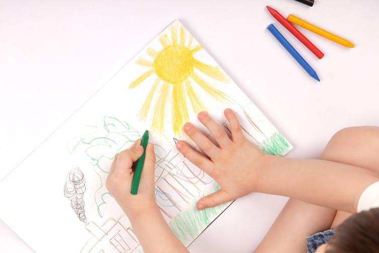 học vẽ cho trẻ nhỏ 6 tuổi