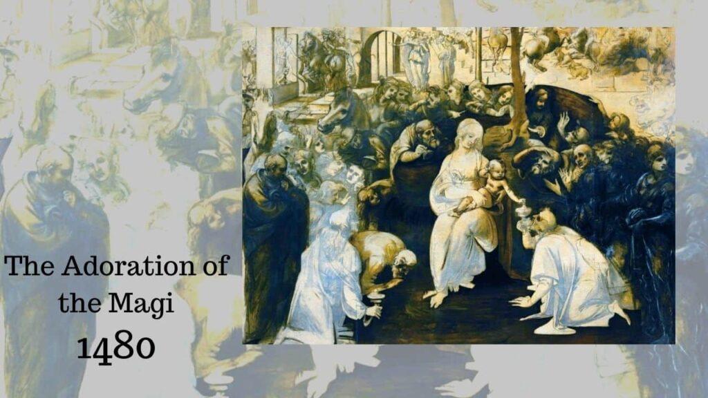 Họa sĩ leonardo da vinci the adoration of the magi