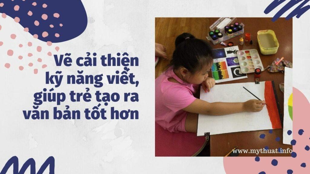 Vẽ cải thiện kỹ năng viết cho trẻ