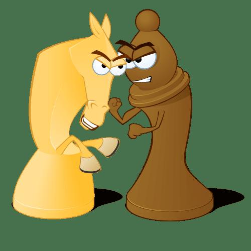 cờ vua trò chơi trí tuệ  Tại sao nên dạy Cờ vua sớm cho trẻ. knight and bishop fighting