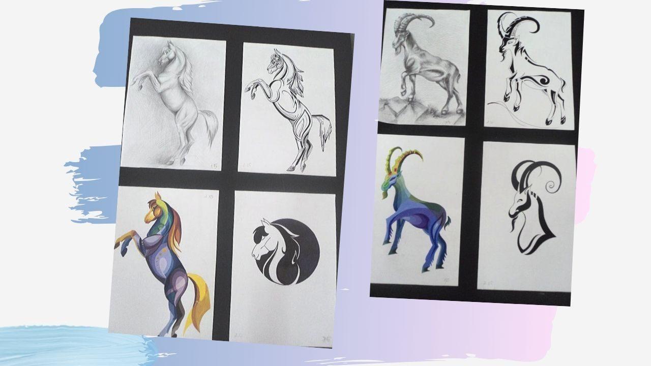Một số ví dụ cách điệu động vật