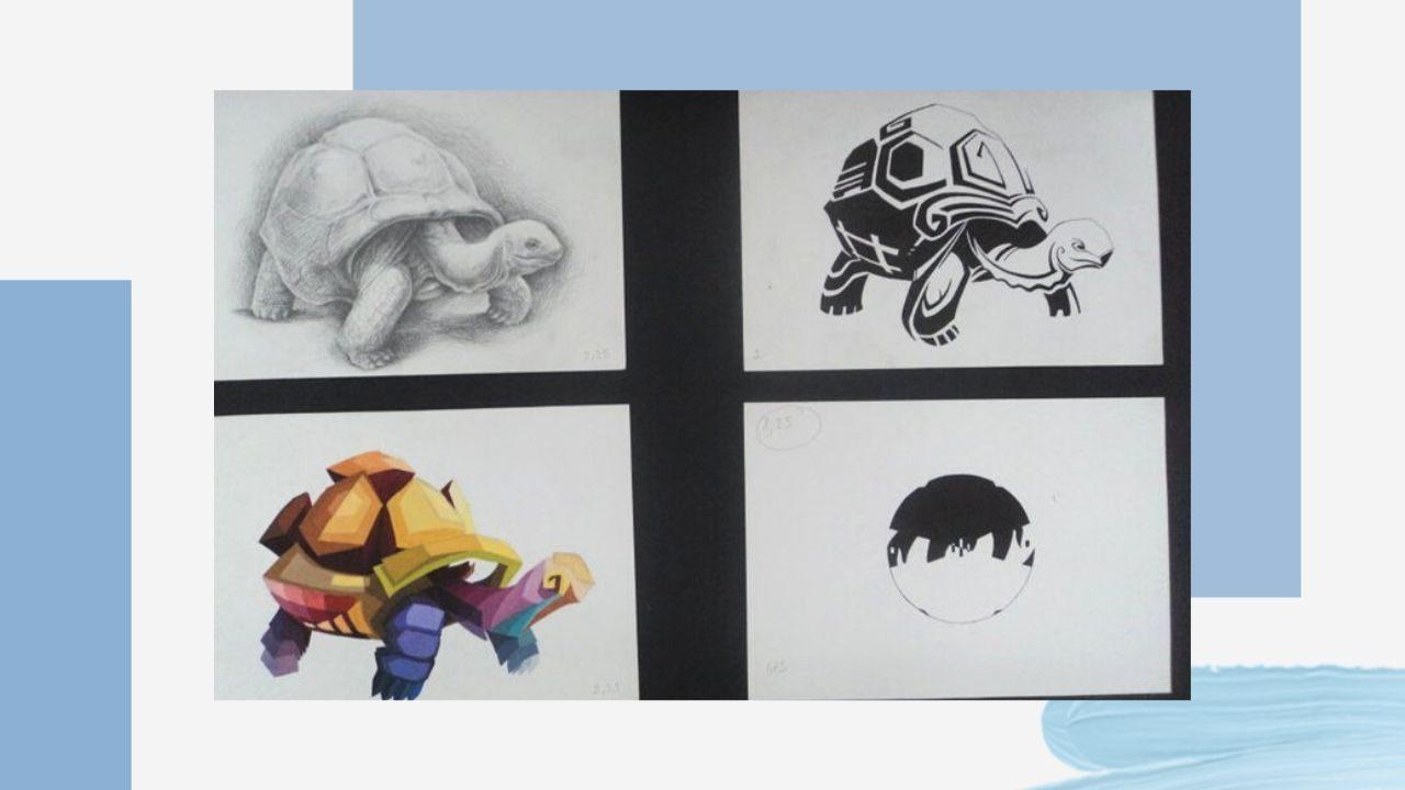 Cách điệu con rùa