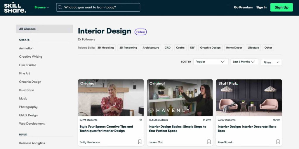 Tự học thiết kế nội thất online