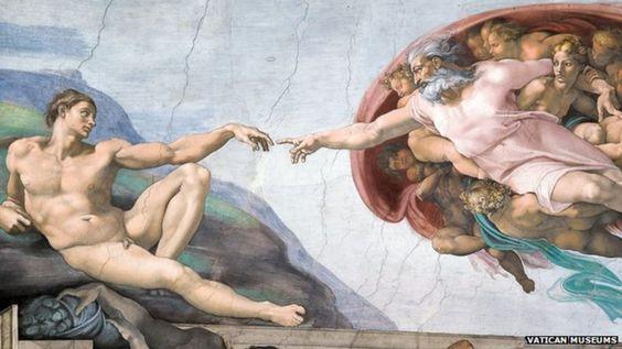 Một phần bức hoạ trên tường nhà nguyện Sistine