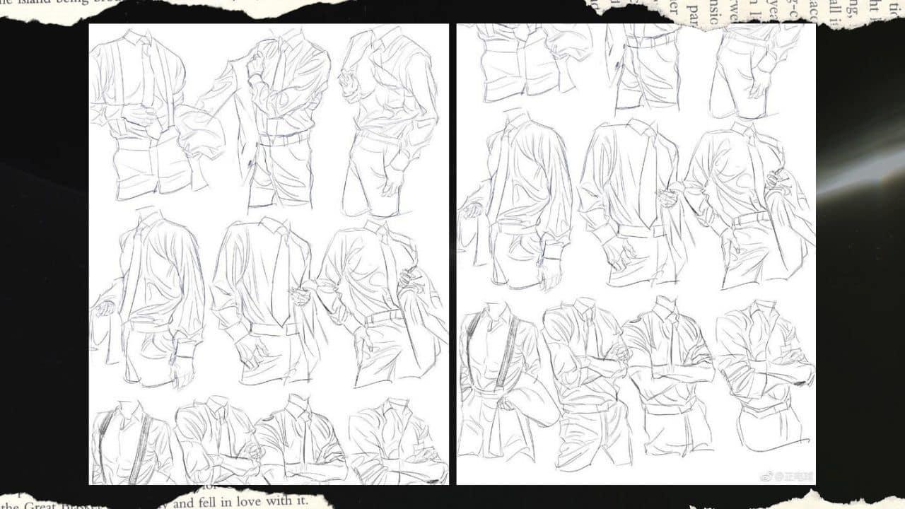 Vẽ quần áo anime nam