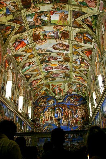 Góc nhìn khác của vòm trần Nhà Nguyện Sistine