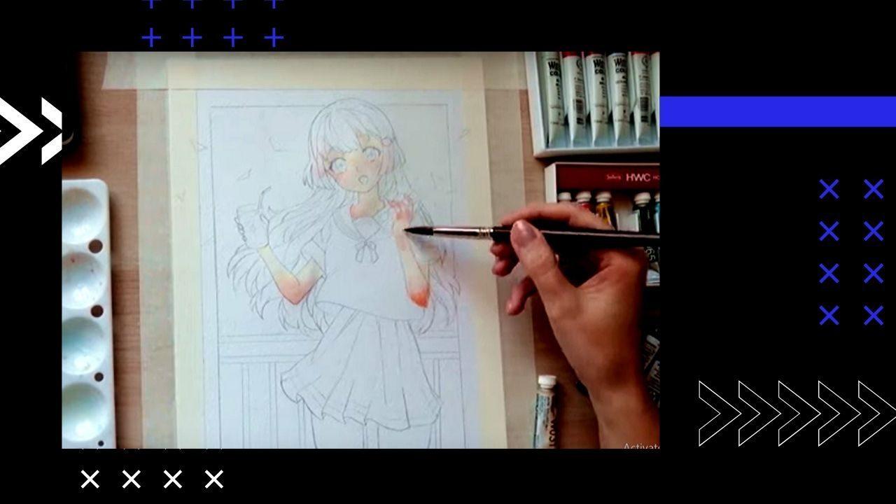 Vẽ da anime